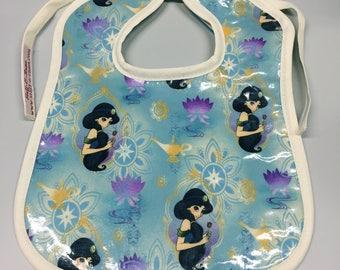 Wipeable Baby Bibs - Princess Jasmine of Aladdin