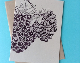 BLACKBERRY GREETING CARDS Farmers Market Letterpress Card Pack of 8 a6