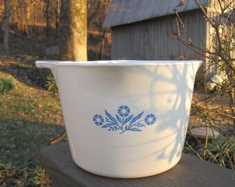 "Vintage Corning Ware - ""Cornflower"" One Quart Deep Saucepan- Corning NY U.S.A."