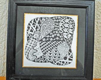 Doodle intrique - zentangle art