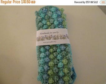 25% OFF STORE SALE Crocheted Wet Jet Swiffer Covers Seaside Stripes and Bright Aqua
