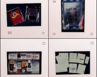 40 Vintage Educational Slides - direct mail marketing coupons junk mail spam - Vintage Photo Slides - 35mm slides