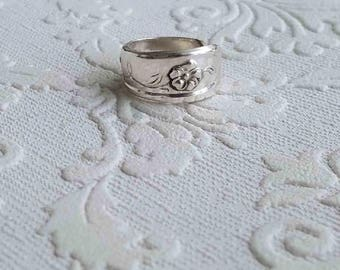 Dainty FloralSpoon Handle Ring
