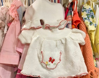 70s Knit Dress and Bloomers 6/9 Months