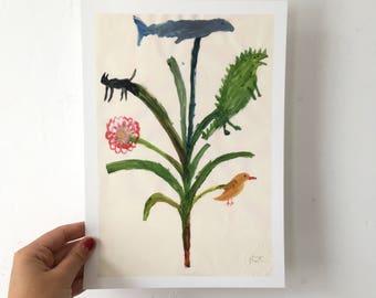 Giclee Art Print || A Very Magical Tree || FAYE MOORHOUSE