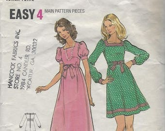 Vintage Butterick Size 7 Dress Pattern for Junior Petite