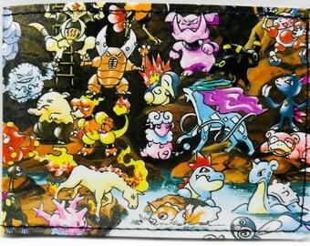 Sewn Comic Book Wallet - Pokemon
