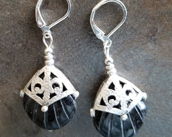 Antique Silver and Onyx