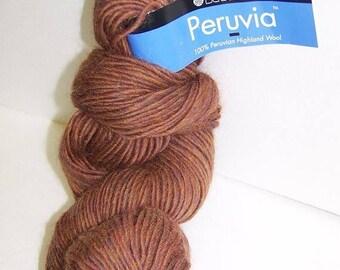 ON SALE Berroco 100% Highland Wool Yarn Peruvia Rust Brown 1 Skein