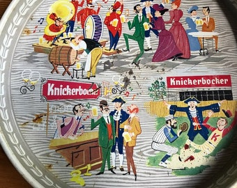 """Vintage Knickerbocker beer tray great for the bar area or a party 12"""" by 1"""""""