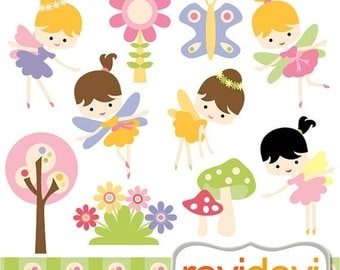 35% OFF SALE Fairy clipart, Spring fairies clip art - digital images, commercial use, instant download