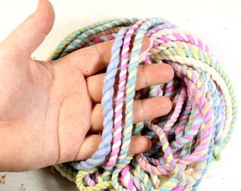 candy crush 2   ... handspun yarn set, weaving creative yarn bundle, hand spun, hand dyed yarn, handspun art yarn