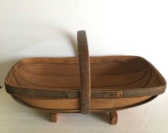 Royal Sussex Trug Bent Wood Basket Hand Made in England Country Garden Farmers Market Harvesting Basket
