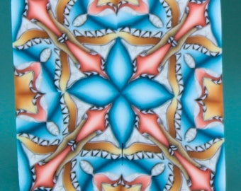 Polymer Clay Square Kaleidoscope Cane -'Dream a Little Dream' series (29aa)