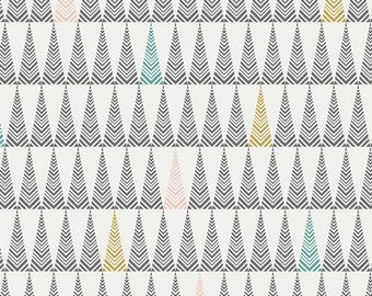 Tree Farm Lit - Little Town Collection by Amy Sinibaldi for Art Gallery Fabrics - 100% cotton quilting fabric by the yard
