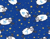 Snuggle Flannel, Counting Sheep, Kids Flannel Flannel, Cotton, By the Yard