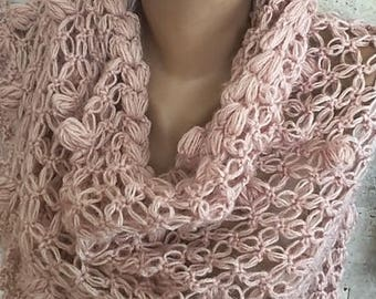 Bridal Wrap, Cape, Bridal Cloak, Winter Wedding, Wedding Shawl, Bridal Cover Up, Bridal Bolero, Powder Pink Shawl