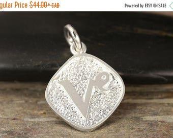 MATERNITY LEAVE SALE Capricorn zodiac pendant in sterling silver