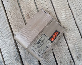 Mens Seatbelt Wallet - Recycled Wallet - BiFold