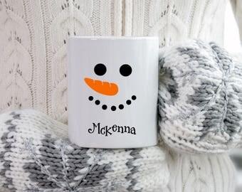Personalized Hot Cocoa Snowman Mug