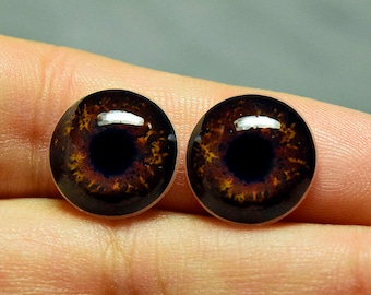 Doll irises 14mm color Walnut constricted pupil
