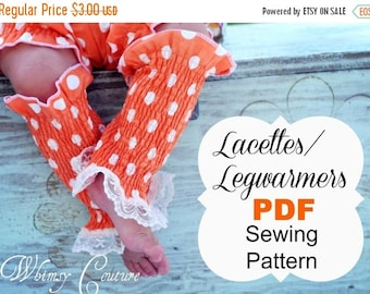 SALE Leg warmers sewing pattern for babies, girls and women all sizes instant