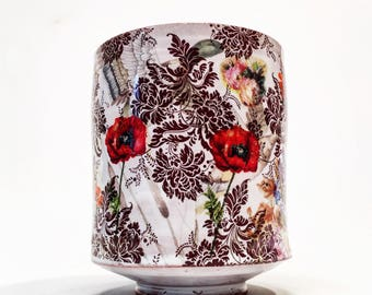 Poppy cup with multiple decal layers