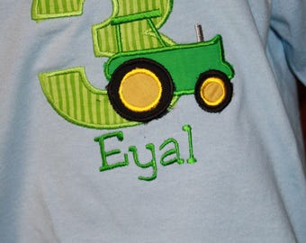 """Personalized Tractor Birthday Party T SHIRT ONLY - """"On the Farm"""" - Name - Boy or Girl - Theme - Cake Smash - Party Decor"""