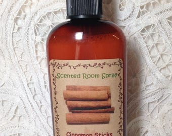 Room Spray Cinnamon Sticks Highly Scented - 4 ounce bottle teacher gift Moeggenborg Sugar Bush