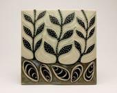 Mussels & Seaweed- 6x6 tile- Ruchika Madan