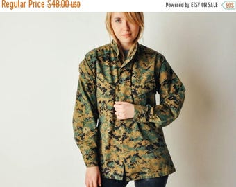 ON SALE Vintage Digital Camo Military Jacket