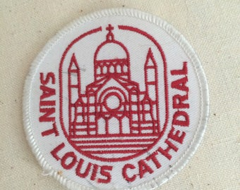 Vintage Patch Badge Applique The Cathedral-Basilica of Saint Louis, King of France St. Louis Cathedral,  Roman Catholic New Orleans USA