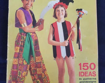 Enid Gilchrist's Fancy Dress magazine with 150 ideas in pattern amd designs. 70s.