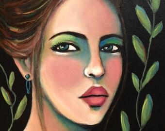 Portrait of Lucia - Original Portrait Painting