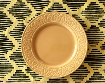 honeycomb yellow. block printed linen napkins. set of four / hand printed / placemats