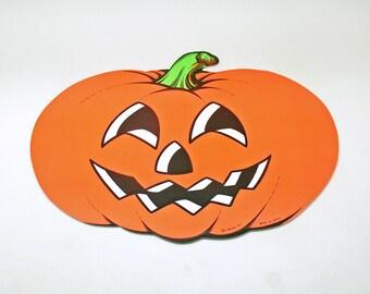 Vintage Halloween Decoration Die Cut Pumpkin Beistle Jack 'O Lantern