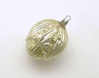 Vintage Christmas Ornament Glass Frog Ornament