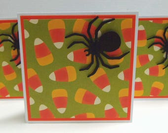 spider halloween note cards set of 4