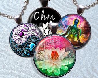 Zen Glass Pendant Necklace Jewelry Bundle Gift Party Favors Grab Bag Bulk Discount