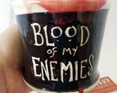 Blood of my Enemies Mug - Funny Office Gift - Phrase Mug Silly Coffee Cup - Handmade Ceramic - Coffee Tea Gift -  Work Valentines Men's Gift