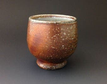 Whiskey Sipper - Bourbon Cup - Yunomi - Tea Cup -  Soda Fired Stoneware by Ron Philbeck Pottery