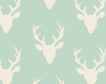 Buck Forest Mint Fabric