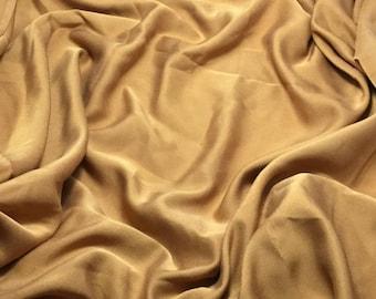 Silk FAILLE Fabric - Copper - 1/4 Yard