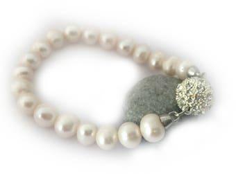 Pearl Bracelet,  Freshwater Pearl Bridal Bracelet, Bridesmaid Gifts Jewellery