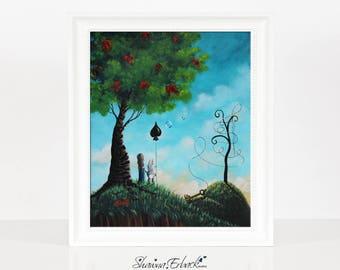 A Stroll Through Wonderland - ALICE IN WONDERLAND - Limited Edition Print - Fairytale Art - Giclee Print - Signed - Small Edition - Rabbit
