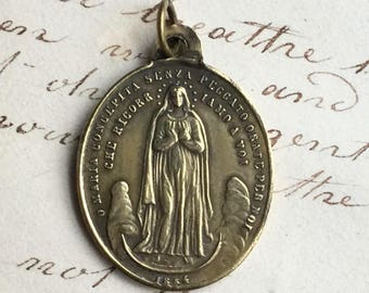 Antique Immaculate Conception / Pope Pius IX Medal