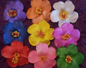 Hibiscus, hair flower, Hibiscus clip, Hibiscus hair flower,flower, pinup, tiki, Tiki bar, tiki luau