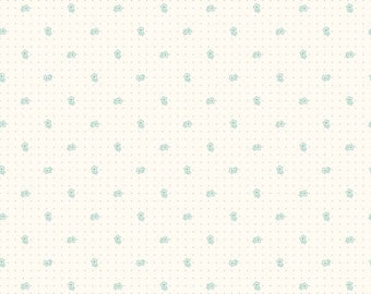Bee Backgrounds By Lori Holt Daisy Teal (C6380-Teal)