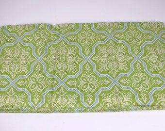Joel Dewberry Heirloom Tile Florish green blue voile fabric, 2 yards