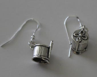 Sterling Silver MAJORETTE HAT Earrings - Marching Band